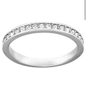 Swarovski Rare Ring, White, Rhodium plated